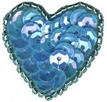 1 1/8'' by 1 1/8'' Beaded & Sequin Heart - 8 Colors1 1/8'' by 1 1/8'' Beaded & Sequin Heart - 8 Colors sequin heart applique
