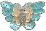 2 1/4'' by 1 1/2'' Beaded & Sequin Butterfly Applique - 5 Colors2 1/4'' by 1 1/2'' Beaded & Sequin Butterfly Applique - 5 Colors Butterfly Appliques.