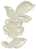 4 3/4'' by 6 3/4'' Beaded & Sequined Flower Applique - 3 Colors4 3/4'' by 6 3/4'' Beaded & Sequined Flower Applique - 3 Colors