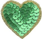 1 1/2'' by 1 1/2'' Beaded & Sequin Heart Applique with Pin on Back - 3 Colors1 1/2'' by 1 1/2'' Beaded & Sequin Heart Applique with Pin on Back - 3 Colors beaded and sequin appliques, beaded organza applique, heart sequin applique, sequin motif