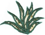 8'' by 6 1/4'' Beaded & Sequined Applique8'' by 6 1/4'' Beaded & Sequined Applique