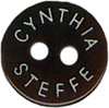 7/16'' - Black Cynthia Steffe 2 Hole Button.7/16'' - Black Cynthia Steffe 2 Hole Button. 2 hole button