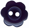 7/16'' - Dark Navy - 2 Hole Flower Button7/16'' - Dark Navy - 2 Hole Flower Button 2 hole button