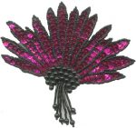 5'' by 3'' Fuchsia/Black Beaded & Sequined Applique5'' by 3'' Fuchsia/Black Beaded & Sequined Applique