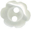 7/16'' - Off White Pearl  4 Hole Button7/16'' - Off White Pearl  4 Hole Button 2 hole button