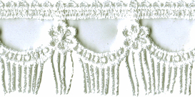 1 5/16'' Fringed Venice Lace Trim - 2 Colors