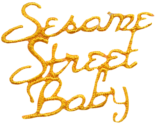 1 3/4'' by 1 3/8'' Iron On Golden Yellow Sesame Street Baby Applique