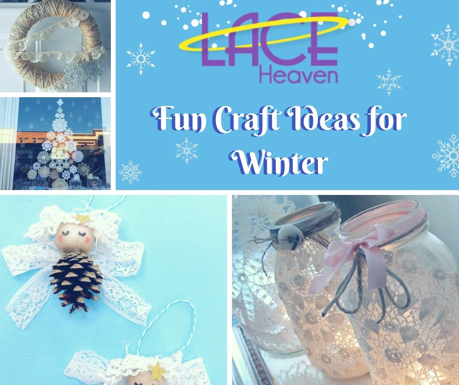 Whether you're looking for activities for yourself, your little ones, our last minute gift ideas (don't worry, we won't tell anyone), Lace Heaven is here to provide you with some much-needed inspiration. We also have nearly everything under the sun for your ribbon & lace supplies.