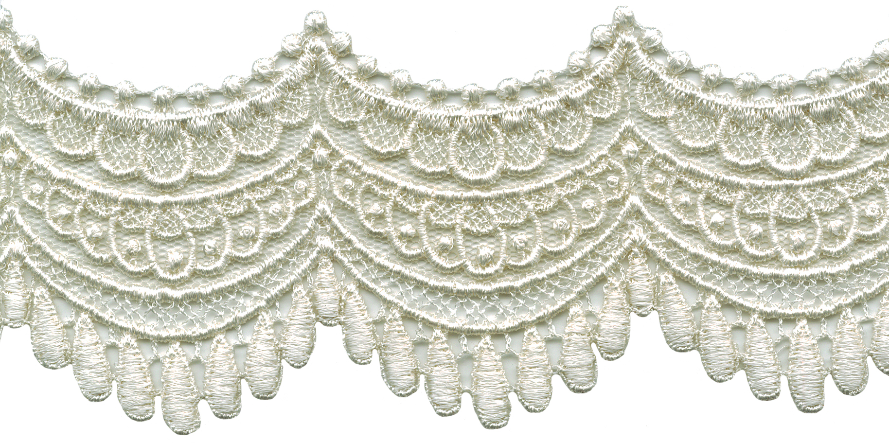 selling by the yard trim ivory 7//8 inch  wide Venise Lace