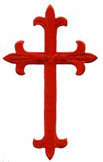4 5/8'' by 2 7/8'' Red Iron on Cross Applique.4 5/8'' by 2 7/8'' Red Iron on Cross Applique. cross applique, iron on applique