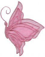 Iron On Pink Butterfly 3 5/8