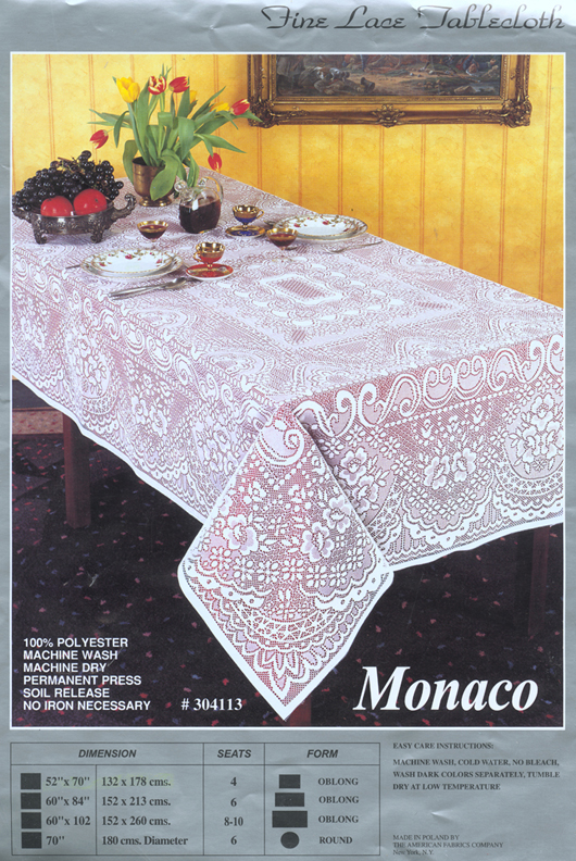 "70"" Round Ivory Tablecloth. Tablecloth."